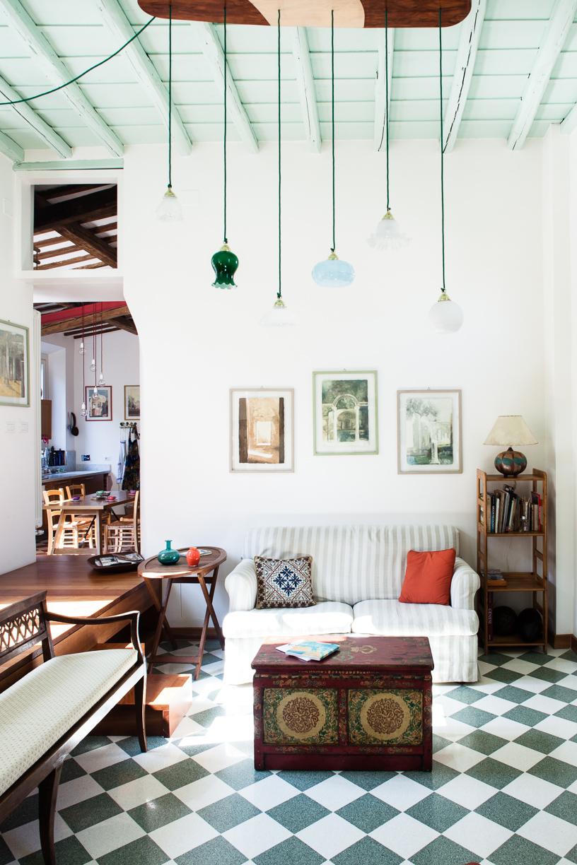 Innenaufnahme Apartment Rom italienische Bodenfliesen