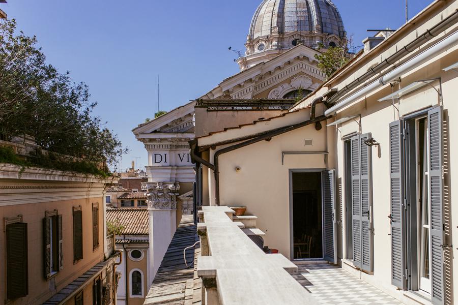 Apartment Rom Dachterrasse Pincio Architekturfotografie